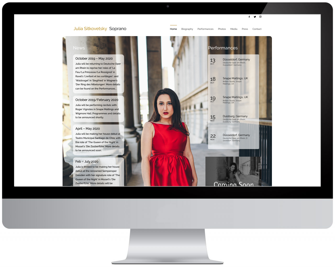 Video Production & Website Design Services for Opera 5